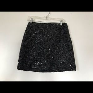 Joe Fresh grey flannel sequined overlay skirt